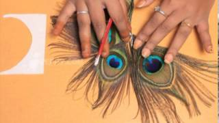 How to Make a Peacock Feather Hair Pin