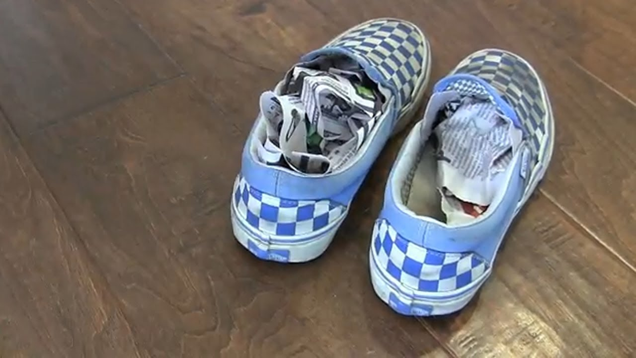 remove bad smells from shoes (and more) with newspaper - youtube