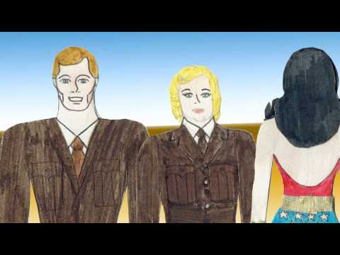 Wonder Woman - The 75th Anniversary 2016 - Paper Doll Animation