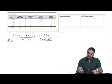 "BA 211 Chapter 6-1 ""Merchandise Inventory Perpetual--FIFO Method"""