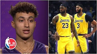 Kyle Kuzma is excited to play with AD and LeBron in his return to Lakers | NBA on ESPN