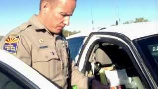 California Plate for Arizona Resident Citation, Stopped for 65…
