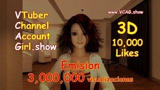 VTuber Account Girl 《On Air》 (4KHD Trailer) YouTuber Virtual