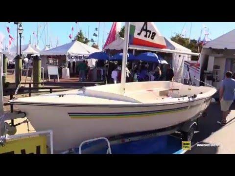 2016 American 18 sailing Boat - Walkaround - 2015 Annapolis Sail Boat Show