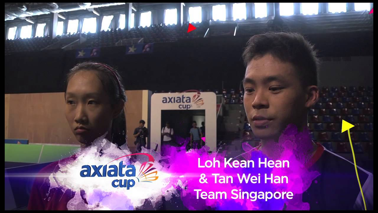 AXIATA CUP 2014 PRE MATCH INTERVIEW TEAM SINGAPORE LOH KEAN