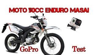 {GOPRO} Test Moto 50cc Masai Dirty Rider Enduro