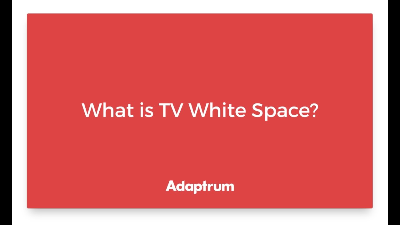 what is white space Ofcom has announced europe's first trial of new white space technology which could enable new high-speed mobile broadband and the internet of things spectrum is the raw material that will.