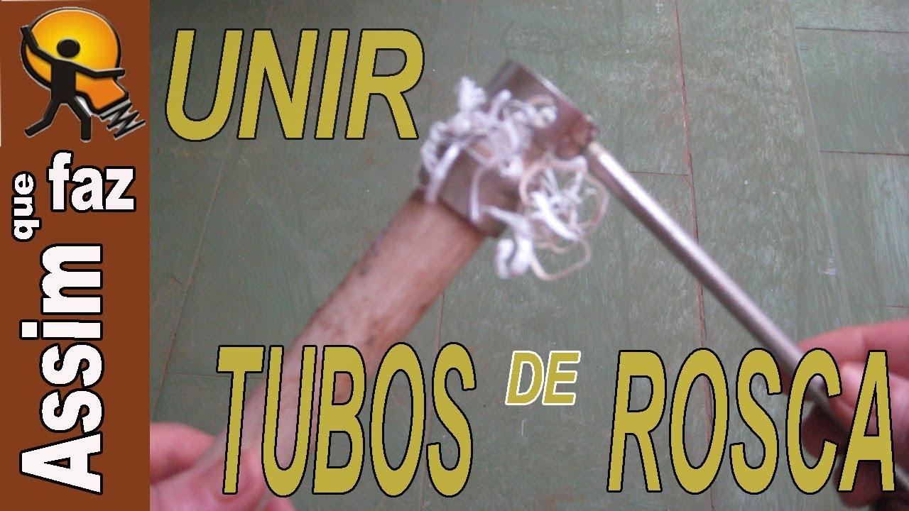 Como unir tubo de pvc de rosca youtube for Como soldar cobre