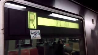 IND Queens Boulevard Line: Forest Hills-bound R46 R*Express*Train@Jackson Heights/Roosevelt Avenue