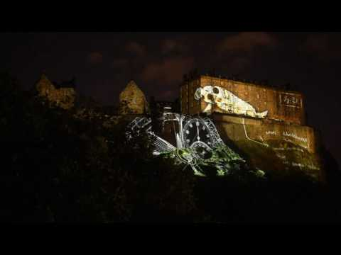 2016-08-07 Deep Time Edinburgh International Festival 2016 Opening Video Projection