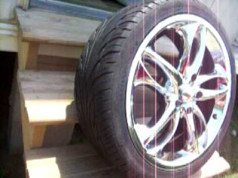"""FOR SALE - FOUR 18"""" CHROME Epic Alloy RIMS AND TIRES"""