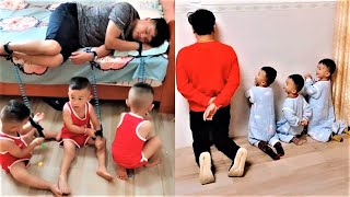 Wonderful father and 3 cute little children