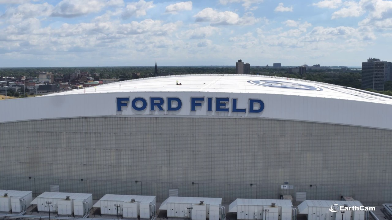 Tremco Roofing Restores Ford Field Roof Time Lapse Video