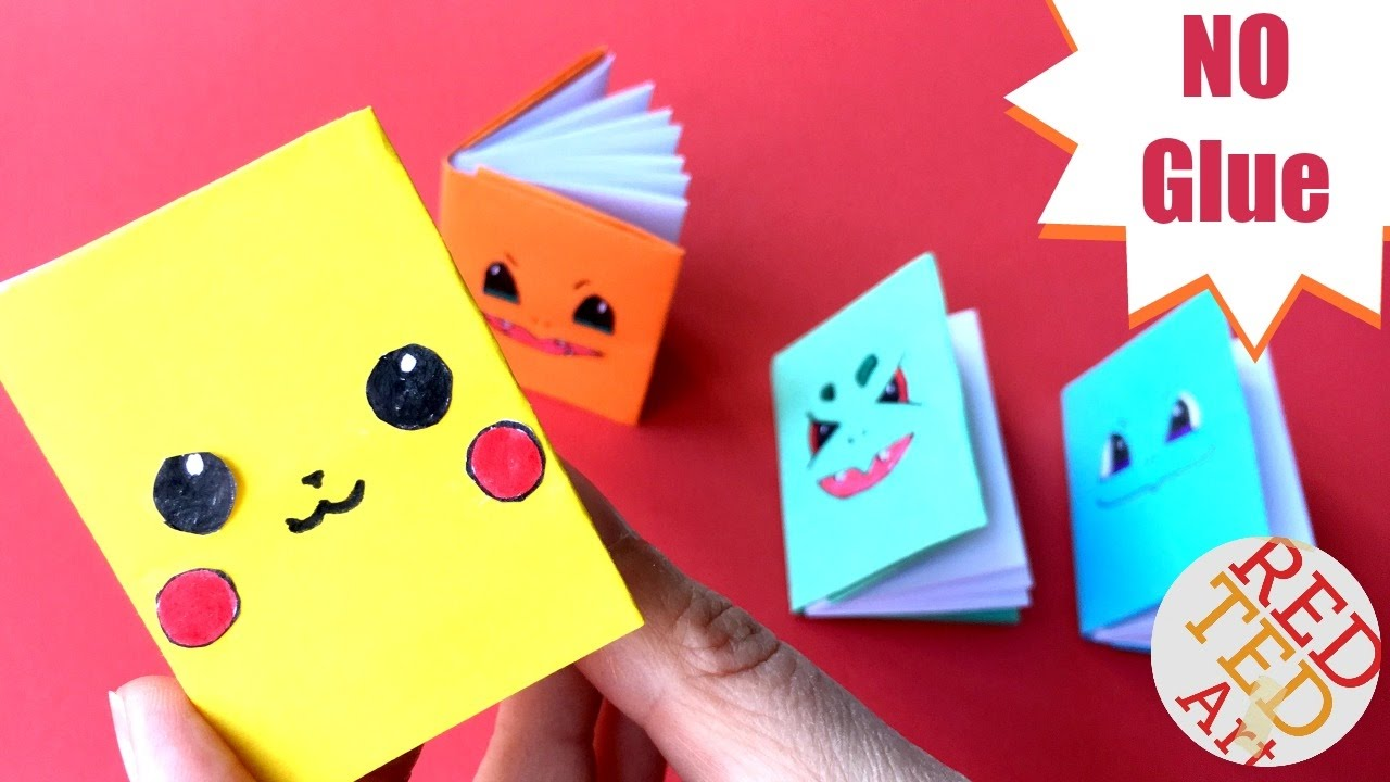 Easy Pokemon Mini Notebook No Glue Part 2 Mini Pokemon Notebooks