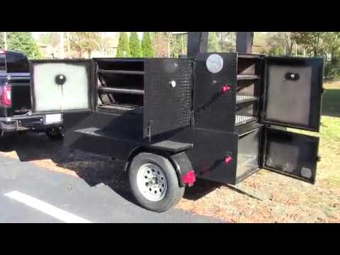 3-propane-fryer-double-smoke-rib-master-house-bbq-smoker-catering-grill-trailer-for-sale-rentals
