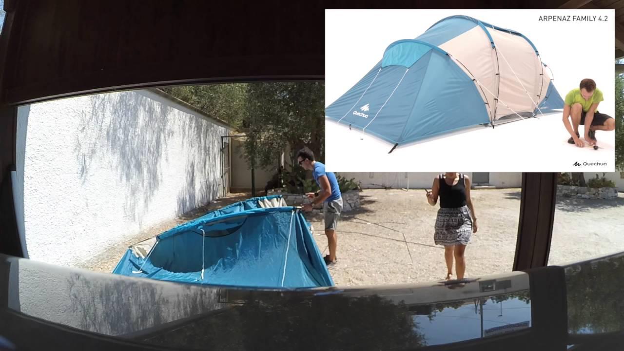 395fd5569 Montaggio tenda Dechatlon Arpenaz Family 4.2 - YouTube