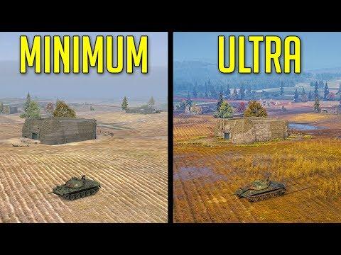 ULTRA Vs MINIMUM Graphics • Any Advantages? ► World Of Tanks Graphic Settings