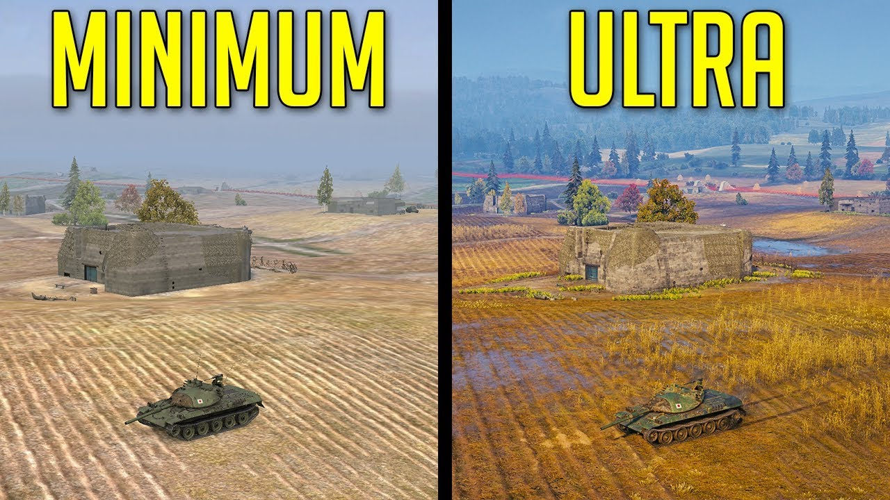 ULTRA vs MINIMUM Graphics • Any Advantages? ► World of Tanks Graphic  Settings