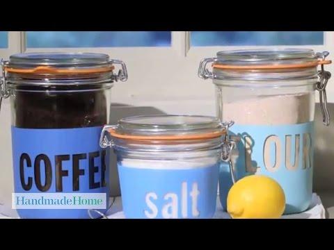 Painted-Glass Storage Jars - Handmade Home - Martha Stewart