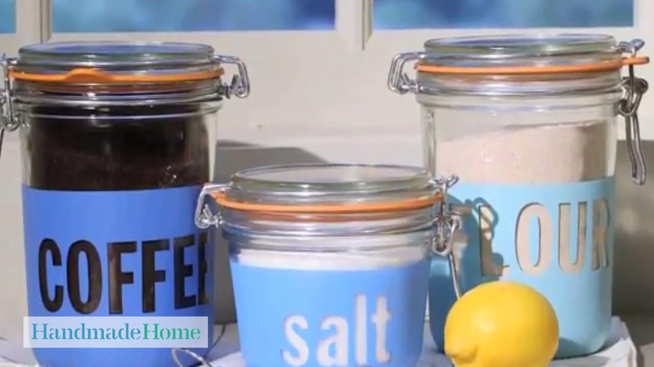 painted glass storage jars handmade home martha stewart youtube