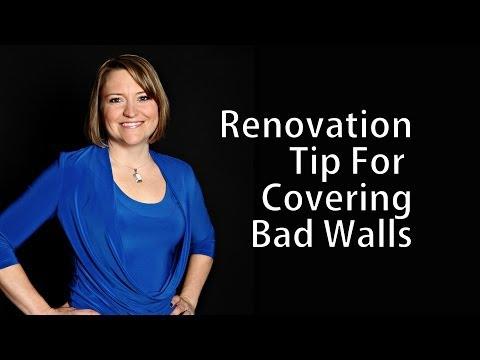 Renovation Tip for Covering Bad Walls