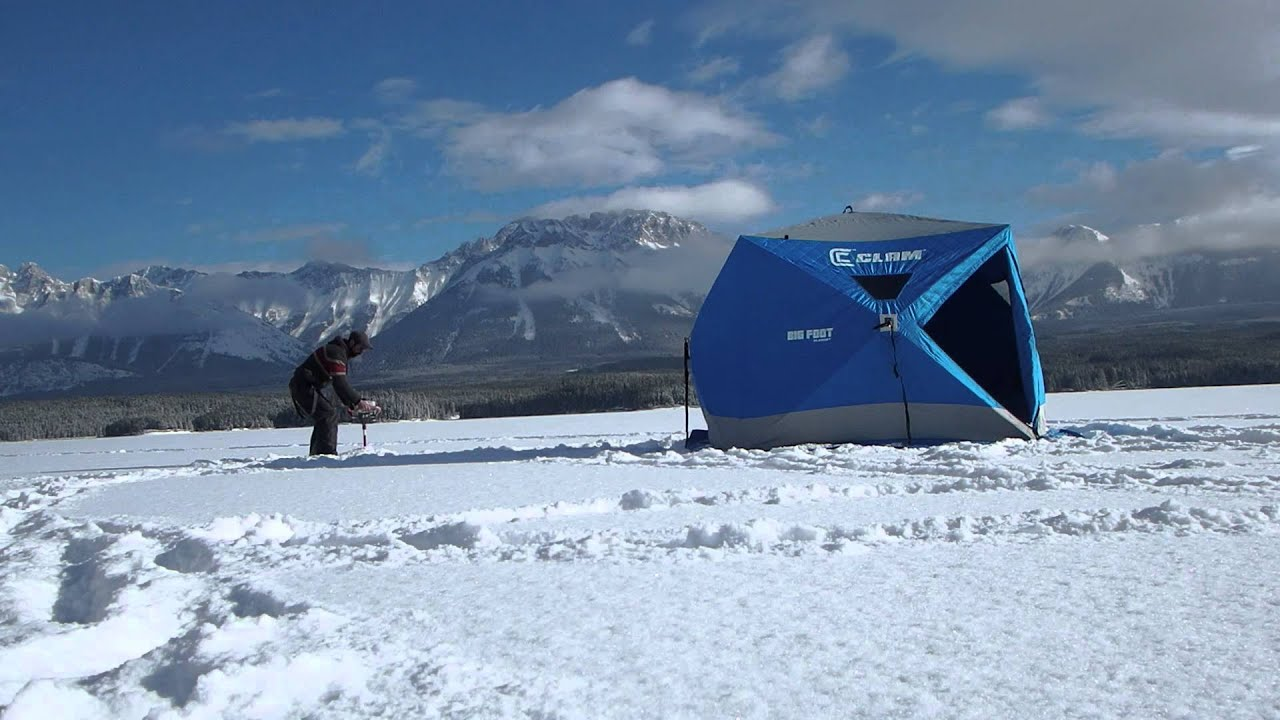 Ice fishing kananaskis youtube for Ice fishing youtube