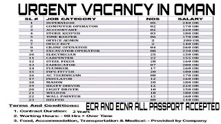 Out Of Country Vacancy 2019 | Engineer, Supervisor, Foreman
