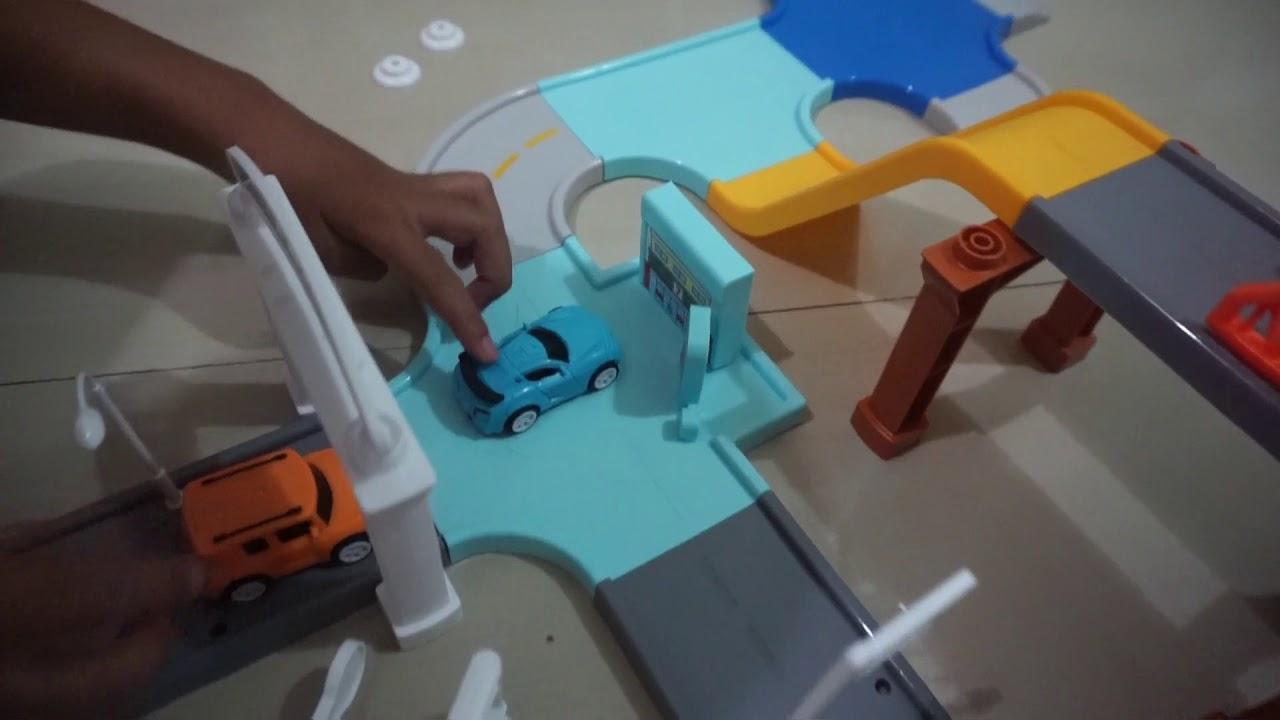 Unboxing Let S Go Tobot Assembled Parking Lot [Mainan Tobot X Dan Y Dengan Area Parkir]