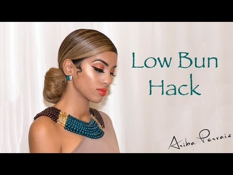 Low Bun Chignon Hair Tutorial