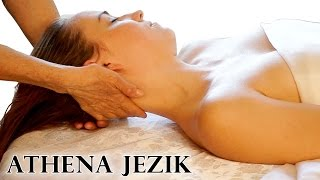 Face & Neck Massage Relaxation Techniques - ASMR Athena Jezik Full Body Series 4 of 7 HD 60P
