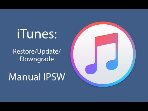 ITunes Restore/Update/Downgrade: Manual IPSW