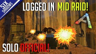 LOGGED IN MID RAID! + QnA ! | Solo PvP Official Servers - Ark: Survival Evolved