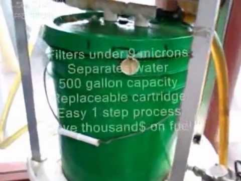 Waste Motor Oil Filter / Used WMO for fuel.wmv