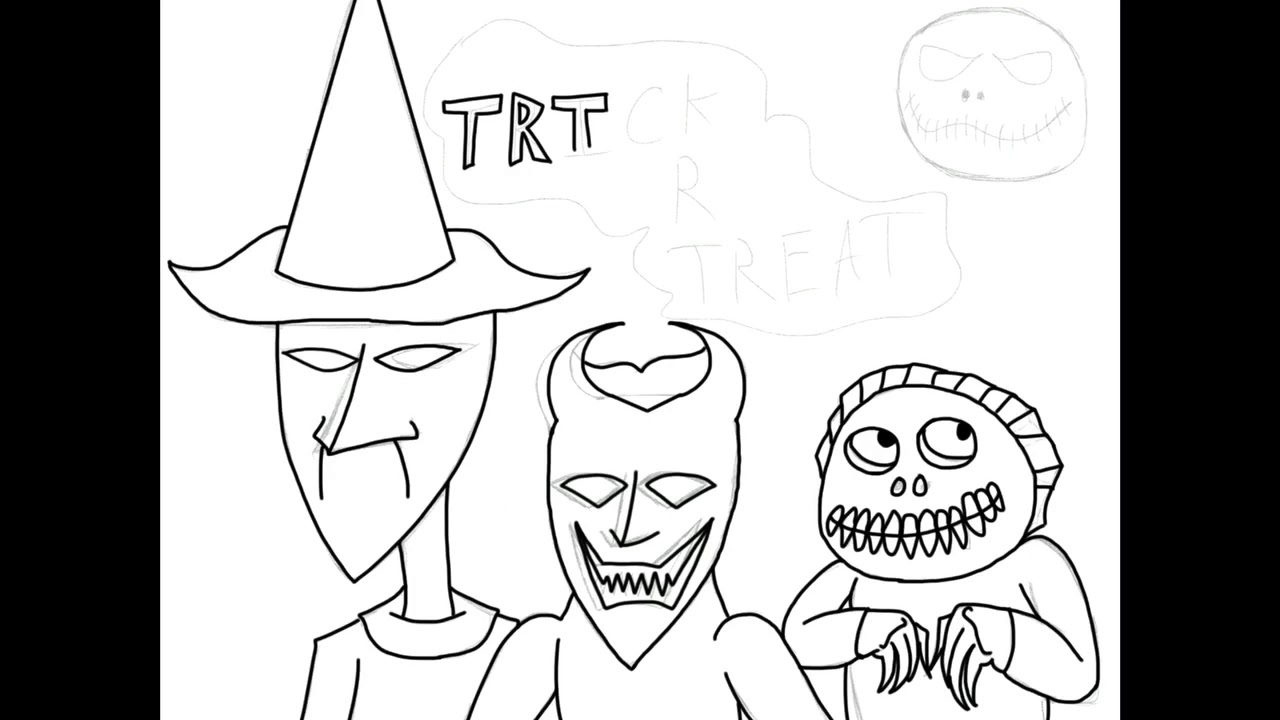 Drawlloween 2017 Ep 31 Trick R Treat Lock, Shock and Barrel From The ...