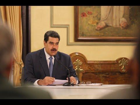 Presidente Nicolás Maduro, cadena completa con anuncios salariales el 29 noviembre 2018