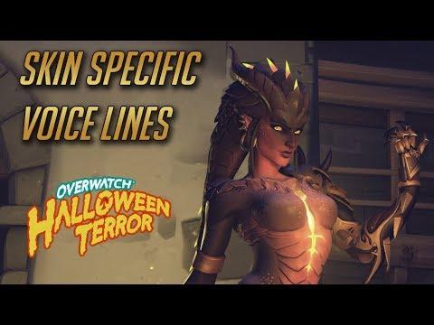 Overwatch - All Skin Specific Voices Lines [Halloween 2017 update]