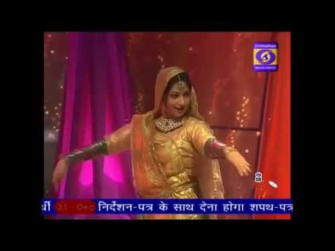 V. Anuradha Singh performing for doordarshan