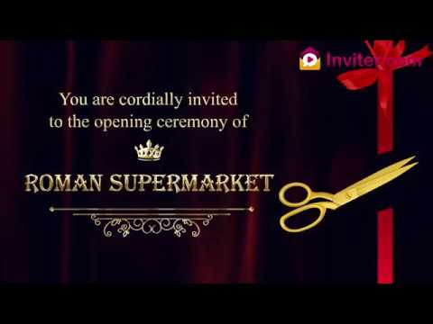 Latest Shop Opening Store Opening Ceremony Invitation Video Whatsapp Video Invitations