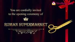 latest shop opening store opening ceremony invitation video whatsapp video invitations