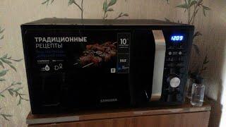 микроволновая Печь Samsung MG23F302TAK распаковка и первое включение