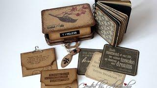Suitcase Bag   Sizzix Die   Mini Album inside