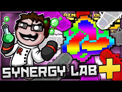 The Binding of Isaac: Afterbirth+ - Synergy Lab: ULTIMATE EVERY-COLOUR LIGHT SHOT GLITCH! (BROKEN)