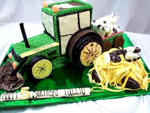 GURU CHEF ROHAN CREATES a green tractor cake for a Farmer