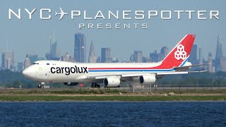 NYC Planespotter Presents: PARADE OF HEAVIES - CARGOLUX, A380 SINGAPORE, EMIRATES,  ✈ No. 122 (4K)