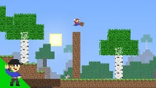 MarioCraft   Mario tries building to the max height!
