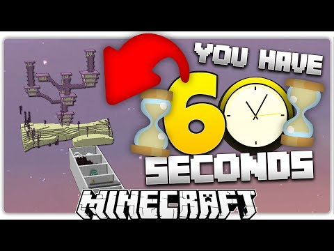 Minecraft | The 60 Second Parkour Challenge (ignore video length)