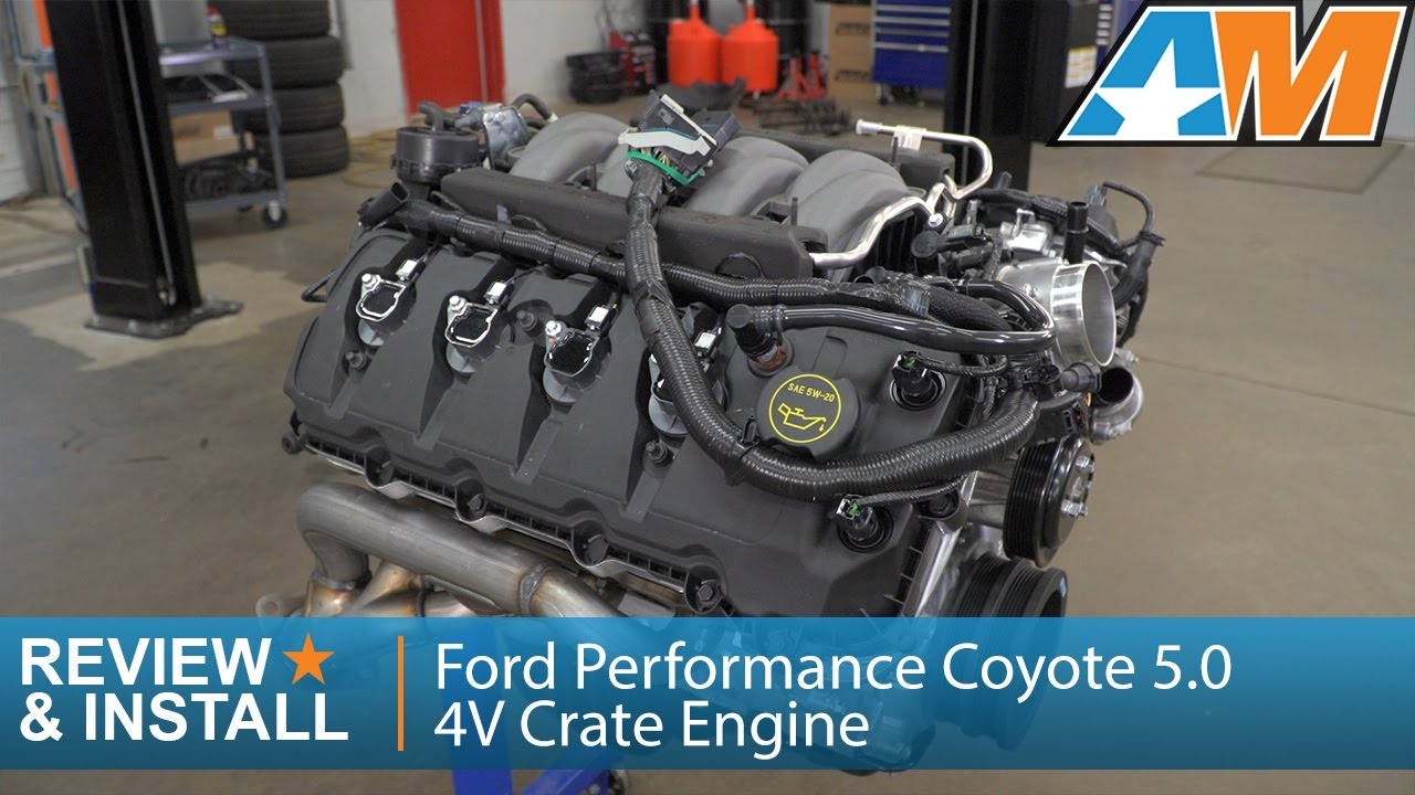 2015 2017 mustang gt ford performance coyote 5 0 4v 435 hp crate rh youtube  com 1989 mustang wiring harness diagram 1992 mustang 5 0 engine wiring  harness