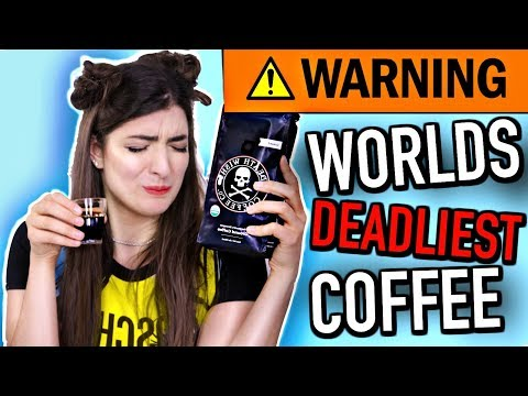 Trying Coffee For The FIRST Time (WORLDS DEADLIEST COFFEE)