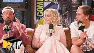 Jay & Silent Bob Reboot w/ Kevin Smith, Jason Mewes, & Harley Quinn Smith | MTV News
