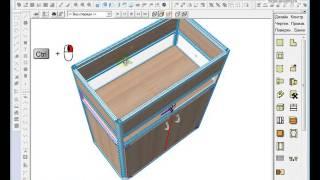 Проектирование витрины из профиля в bCAD